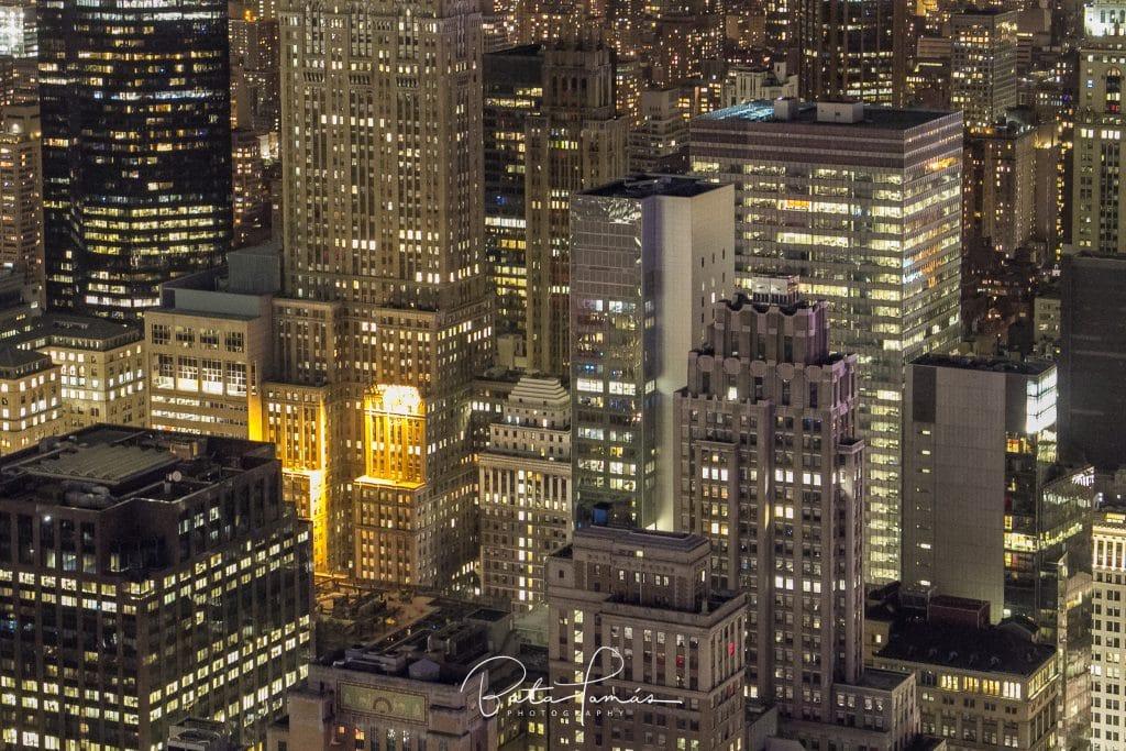 New York esti látképe a Rockefeller Center tetejéből - részlet