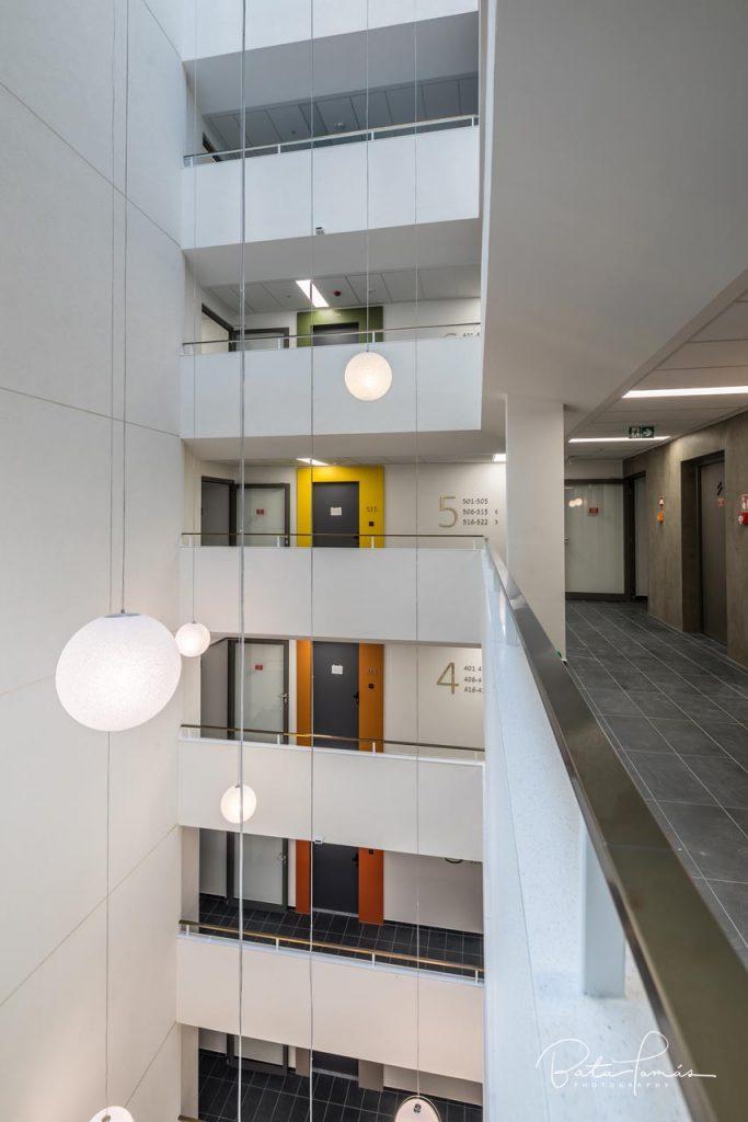 Grand Corvin by Cordia épületének részlete - a 10 emeletes aula